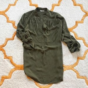 Pleione green tunic blouse